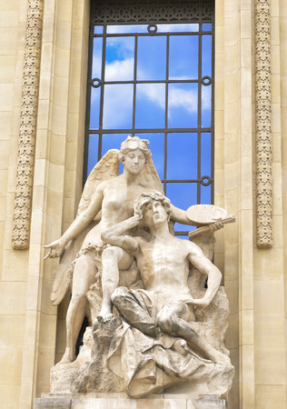 palais: Architectural detail of the Grand Palais, major tourist attraction in central Paris, France