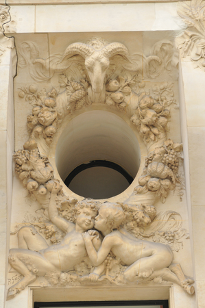 architectural  detail: Architectural detail of building in Paris, France