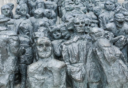 holocaust: Paris, France - July 9, 2015: Architectural detail of modern monument in Jardin des Tuileries, Paris