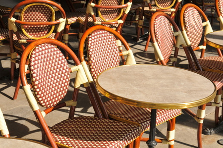 restaurant tables: Chairs and tables at the restaurant