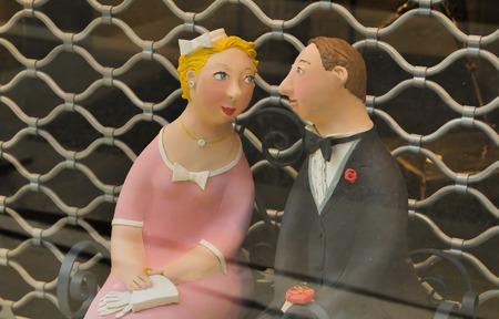 memorabilia: Paris, France - July 10, 2015: Detail of retro memorabilia in vintage shop in Marais, Paris, France Editorial