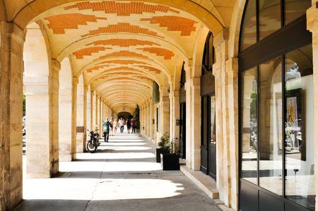 royale: Paris, France - July 10, 2015: Place des Vosges (Place Royale), major landmark in Paris, located in Marais district.
