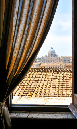 roof windows: Vatican city as seen from a window in Rome, Italy