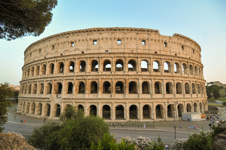 View of the ancient Colosseum in Rome, Italy Stock Photo