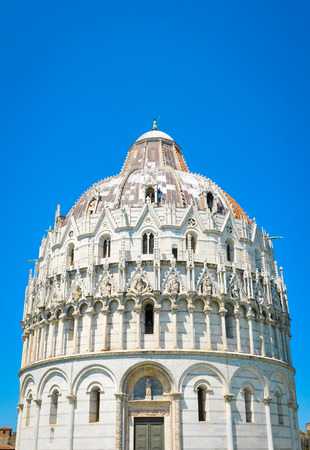 Architectural detail of the cathedral in Pisa in Italy. Stock Photo