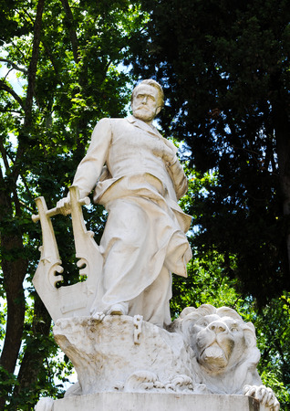 Statue of Victor Hugo in Rome, Italy
