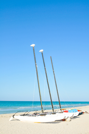 Sailing in Varadero, Cuba Stock Photo