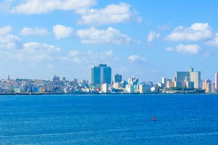 Panorama of Havana, Cuba as seen from the Morro Castle (fortress) Editorial