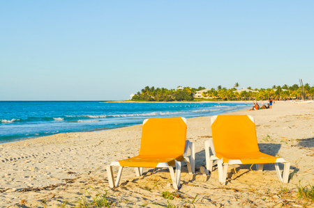 Panorama of Varadero beach in Cuba