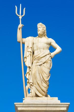 Standbeeld van Poseidon (Neptunus) in Havana, Cuba