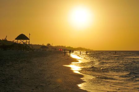 varadero: View of sunset in Varadero, Cuba