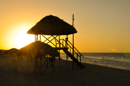 View of sunset in Varadero, Cuba