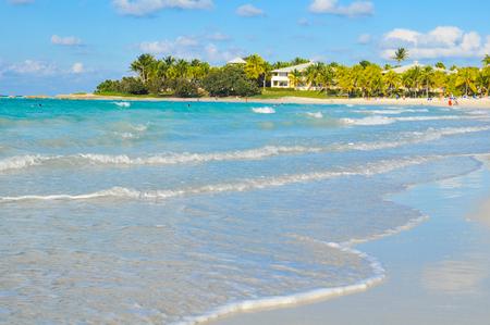 View of the Caribbean sea in Varadero, Cuba