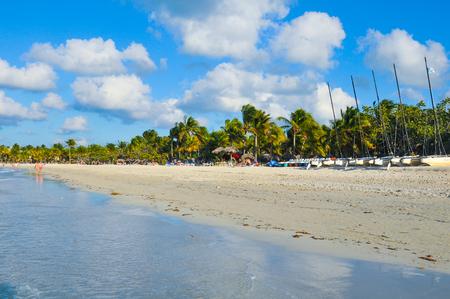 View of the Caribbean beach in Varadero, Cuba Editorial