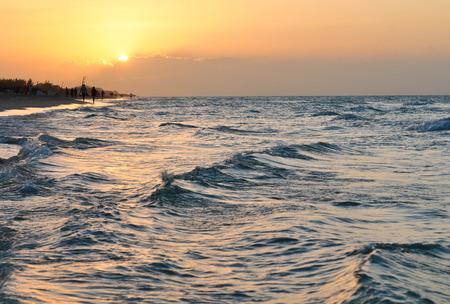 View of sunset in Varadero, Cuba