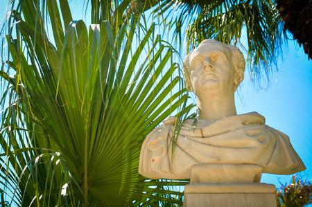 Statue of Ioannis Kapodistrias, statesman in Athens, Greece Stock Photo