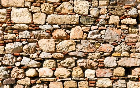 アテネ、ギリシャの古い壁の詳細 報道画像
