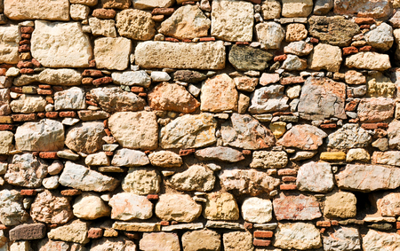 Detail of old wall in Athens, Greece
