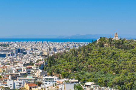 View of Athens, Greece as seen from the Parthenon, Acropolis hill