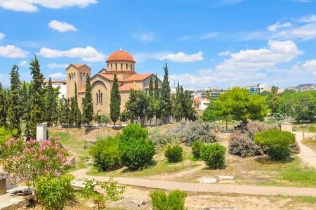 Graves and gravestones in Kerameikos, Athens, Greece Editorial