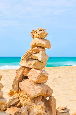 Pile of rocks symbolizing life balance, meditation, relaxation, zen feeling