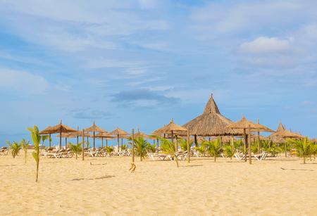 Exotic beach resort in Boa Vista, Cape Verde, Africa Stock Photo
