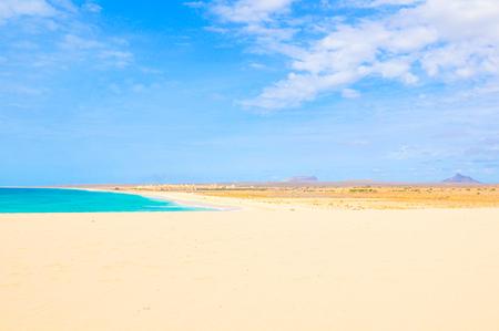 Marine landsacape in Boa Vista, Cape Verde, Africa
