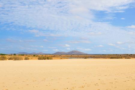 Desert landscape in Boa Vista, Cape Verde, Africa Stock Photo