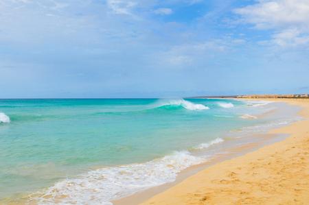 Beach landscape on Boa Vista island, Cape Verde, Africa