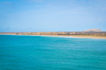 View of secluded beaches in Boa Vista, Cape Verde