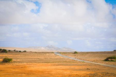 Marine landsacape with volcanic rocks in Cape Verde