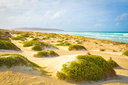 View of beach in Boa Vista, Cape Verde Stock Photo