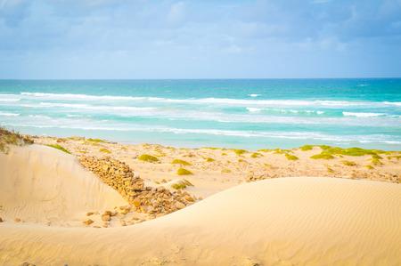 Marine landscape with the beaches of Boa Vista, Cape Verde, Africa