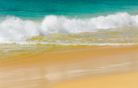 Detail of waves of a tropical sea Stock Photo
