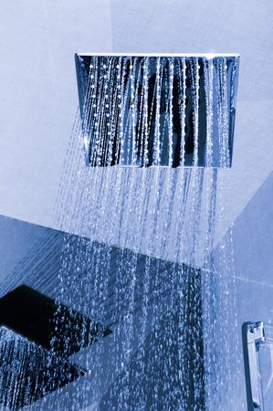 Detail of modern ceiling shower