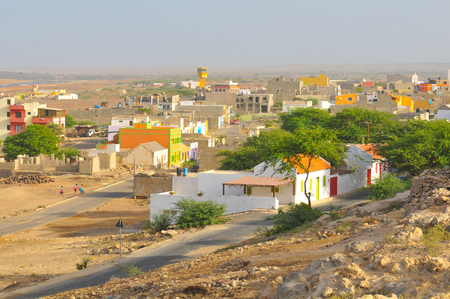 View of Rabil on the island of Boa Vista, Cape Verde Stock fotó - 96390337