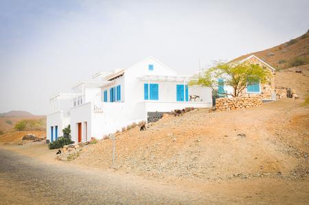 Newly built house in Boa Vista, Cape Verde Stock Photo