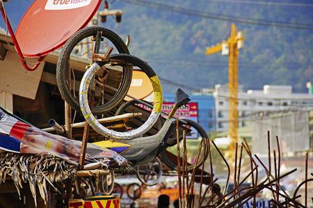 motorcycle repair shop: Motorcycle repair shop at Patong, Phuket, Thailand Editorial