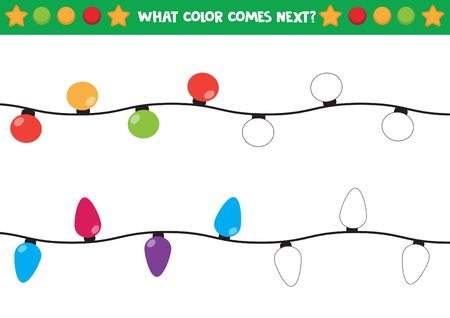 Shiny Christmas light. Guess what color is next.