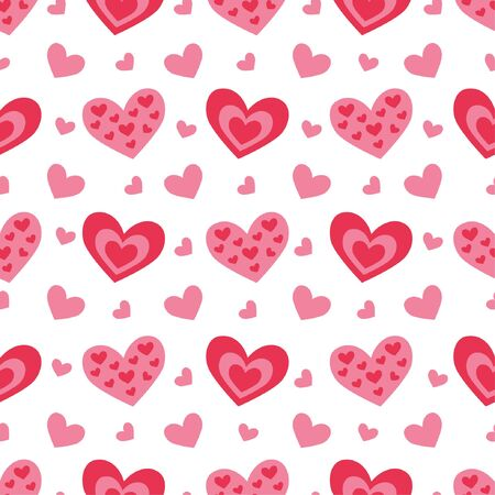 Cute seamless pattern with hearts for Valentine's day.