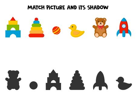 Match picture and its shadow.