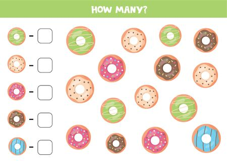 How many donuts are there. Count the number of doughnuts.