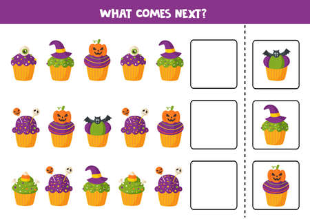 What comes next with cartoon Halloween cupcakes.