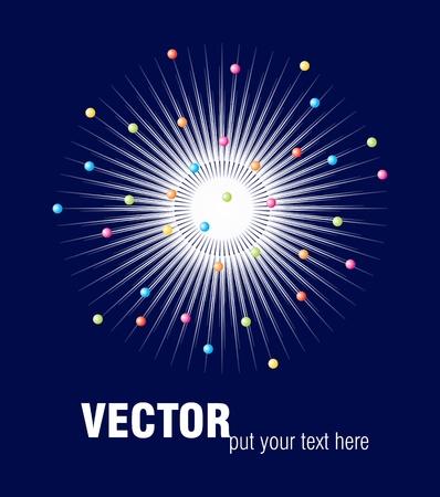 poster design with fireworks Illustration
