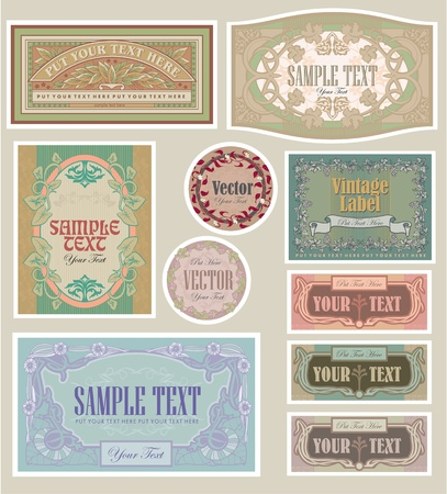 set vintage labels Stock Vector - 9739638
