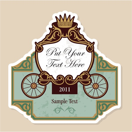 invitation design with fairytale carriage Vector