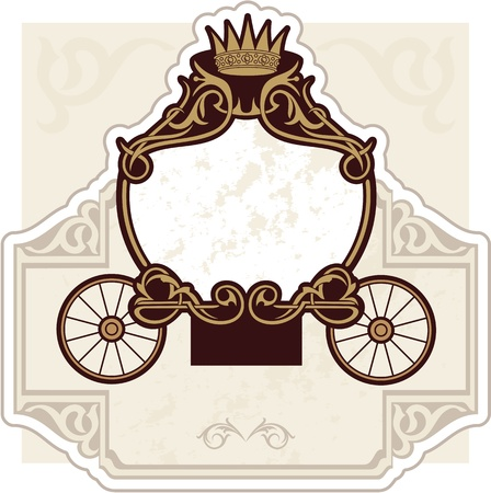 wedding invitation design with carriage Vector