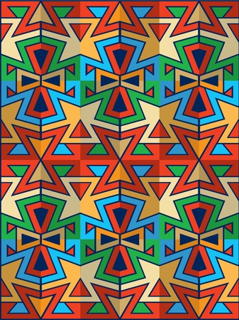 native american art: american indian pattern  Illustration