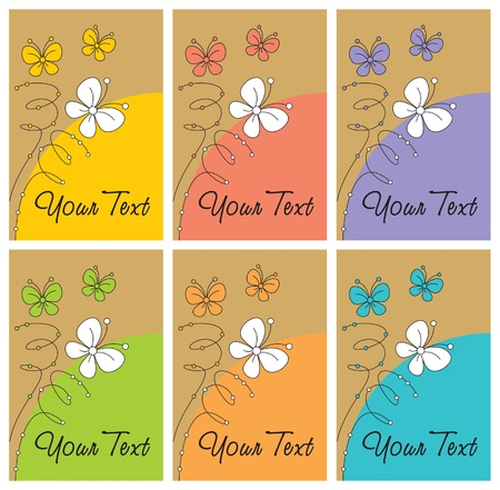 butterfly label set  Vector