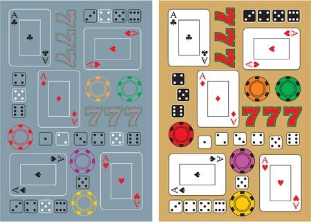 casino seamless backgrounds  Vector
